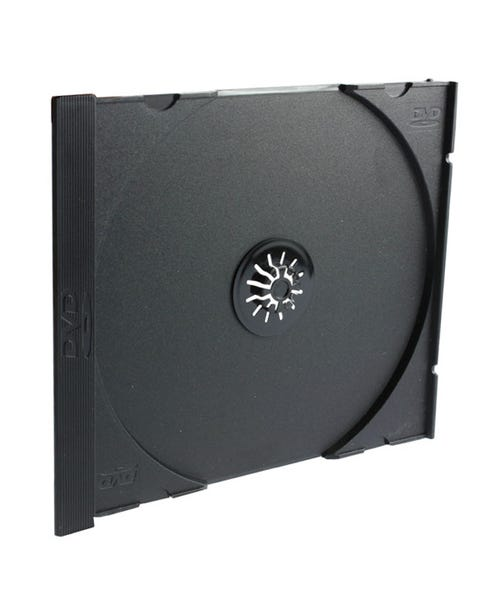 Polyline Jewel Case Tray - Black - Polystyrene - DVD Logo
