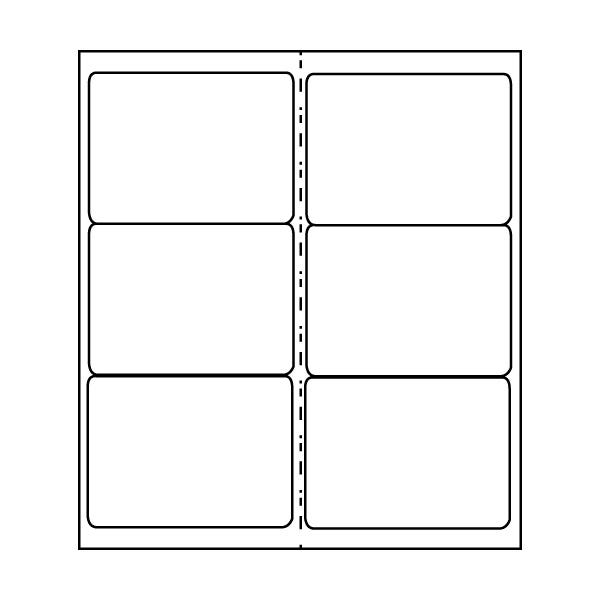 """Polyline 4 x 3-1/3"""" Mailing/Shipping Labels - Matte White (3600 Labels)"""