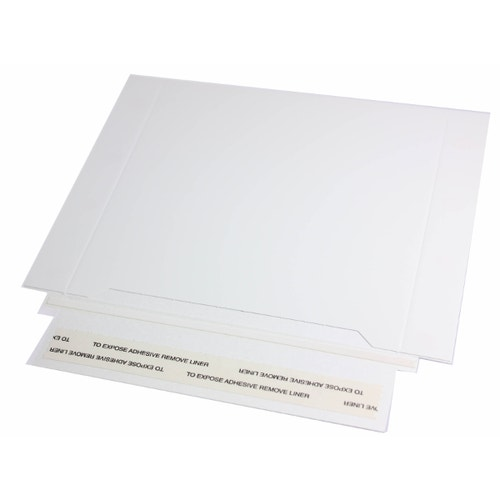 Polyline Disc Mailer -White Paperboard - Peel & Seal Flap