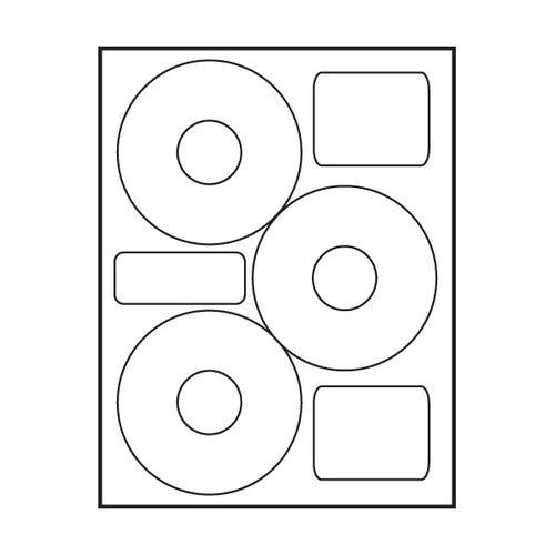 """Polyline Neato Compatible Matte CD Labels - Matte - 4.5"""" (300 Labels)"""