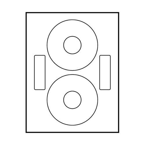 """Polyline Neato Compatible Matte CD Labels - Matte - 4.65""""(400 Labels)"""
