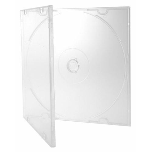 Polyline Slimline 5.2mm Polybox CD/DVD Case - Clear - Polypropylene - Literature Clips