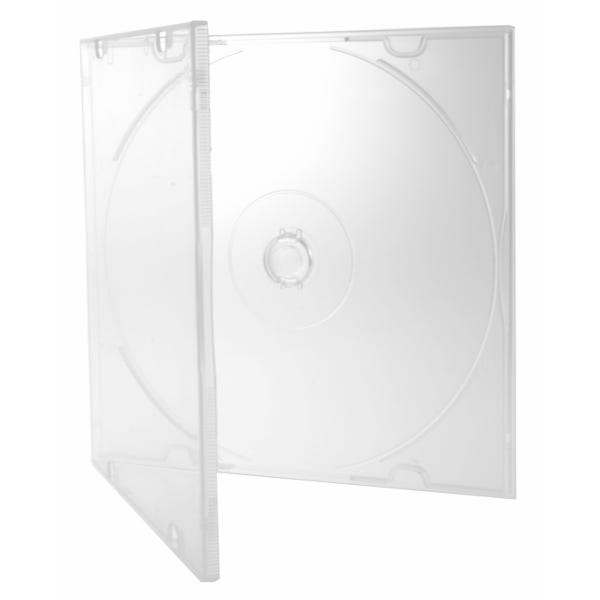 Polyline Slimline 5.2mm Polybox CD/DVD Case - Clear - Polypropylene - Literature Clips