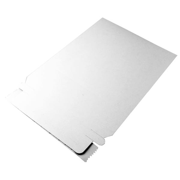Polyline Disc Mailer - 5-1/8 x 5-1/8 in-White Paperboard - Peel & Seal Flap