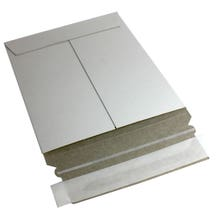 Polyline Disc Mailer -6 x 6 in - White Paperboard - Peel & Seal Flap