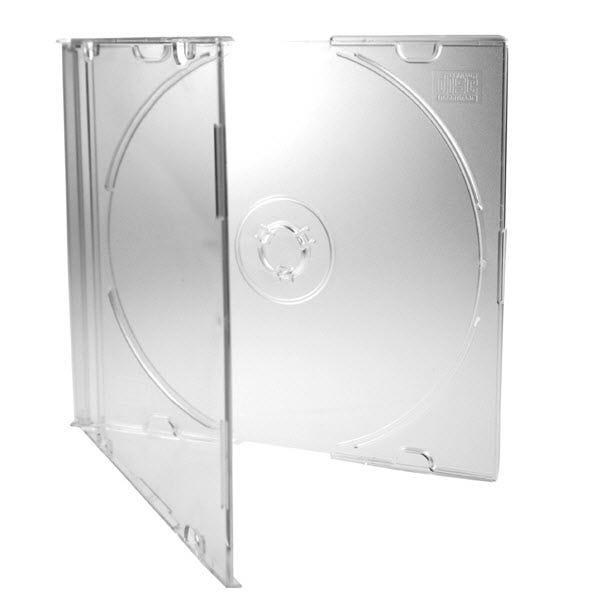 Polyline Slimline 5.2mm CD Jewel Case - Frosted Bottom (50 Pack)