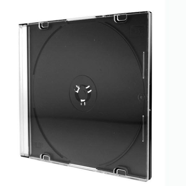 Polyline Slimline 5.2mm CD Jewel Case - Black Bottom (200-Pack) Double Boxed