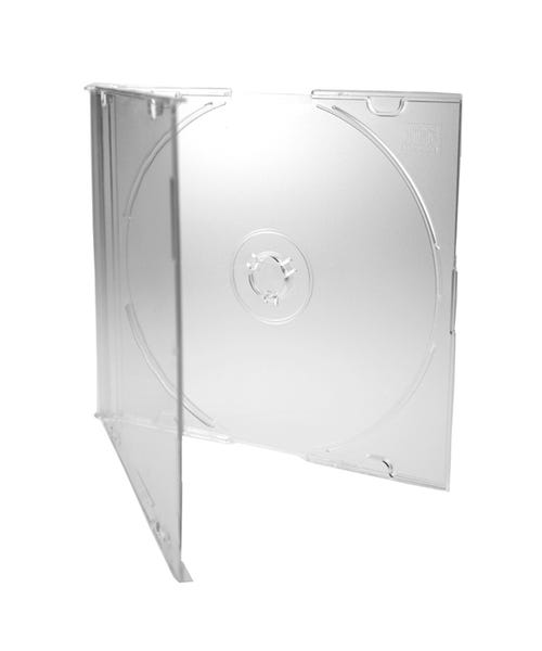 Polyline Slimline 5.2mm CD Jewel Case - Clear Bottom (200 Pack)