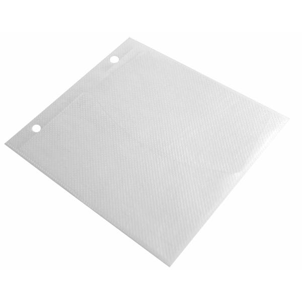 Polyline Univenture CD Binder Sleeve- 2-Ring Binder-Clear White Fabric Liner - Polypropylene - Flap