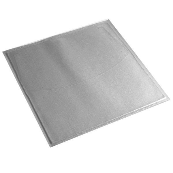 Polyline Adhesive CD Sleeve-Clear/WFabric Liner-Textured Vinyl-Flap-No Seal