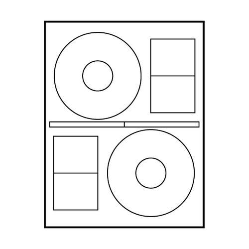 "Polyline Stomper Compatible Matte CD Labels - 4-5/8"" (400 Labels)"