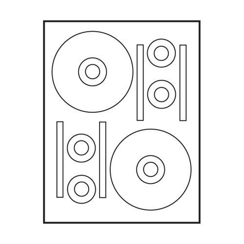 "Polyline Stomper Compatible Matte CD Labels - 4.625"" (400 Labels)"