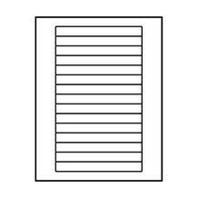 "Polyline Avery Compatible Matte VHS Labels - 5-13/16 x 11/16"" (1500 Labels)"