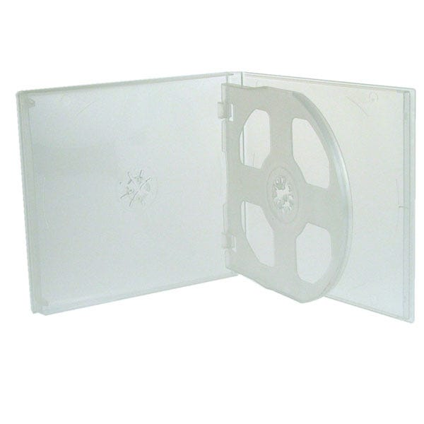 Polyline 3-Disc Polybox CD/DVD Case - Clear Overlay (200 Pack)