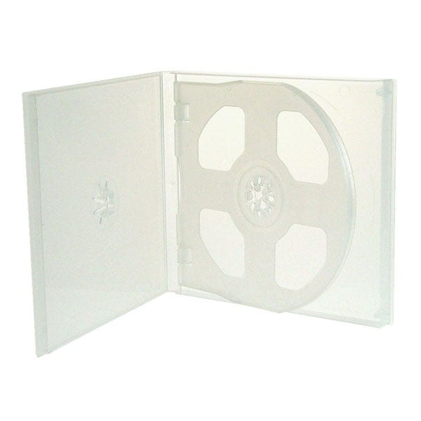 Polyline 4-Disc Polybox CD/DVD Case - Clear Overlay (200 Pack)