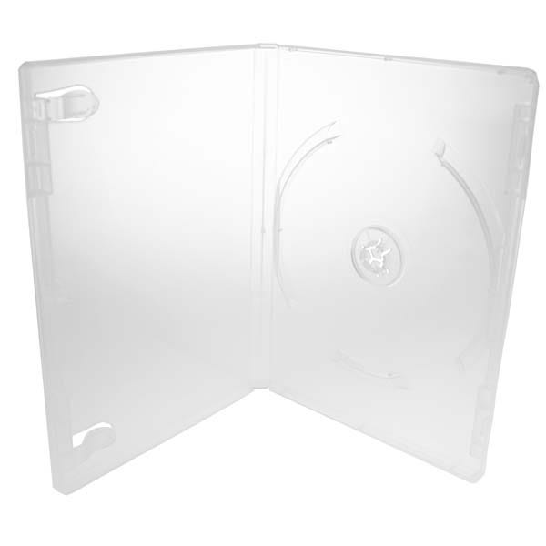 Polyline 2-Disc PL-Pro DVD Case - Clear - 14mm - Glossy - Overlay & Literature Clips