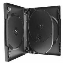Polyline 4-Disc VERSApak 27mm Spine DVD Case - Black (60 Pack)