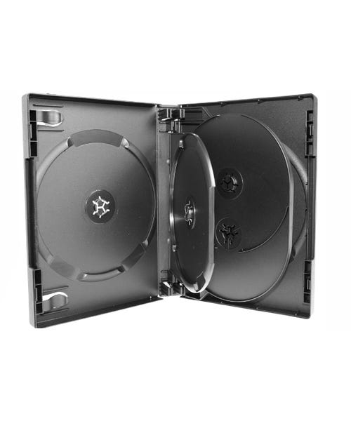 Polyline 5-Disc VERSApak 27mm Spine DVD Case - Black (60 Pack)