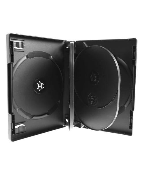 Polyline 6-Disc VERSApak 27mm Spine DVD Case - Black (60 Pack)