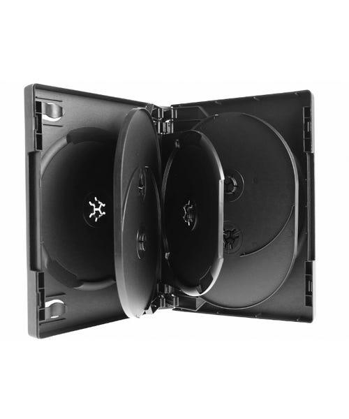 Polyline 7-Disc VERSApak 27mm Spine DVD Case - Black (60 Pack)