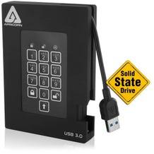 Apricorn Aegis Padlock 128GB External SSD - USB 3.0 - 8 MB B