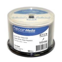 Falcon 52X Inkjet - White - Water Repellent - Hub Printable - 80 Min CDR Cake Box - 50pc