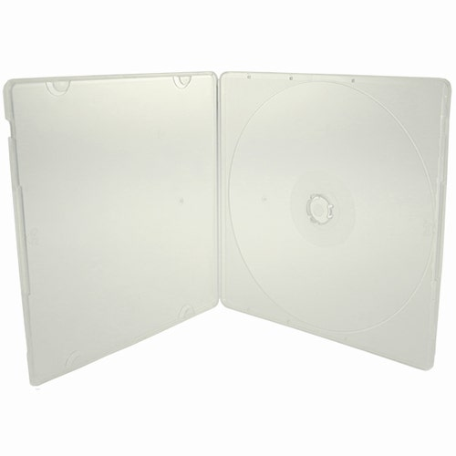 Polybox CD Case 5.2mm - Clear - w/ Overlay