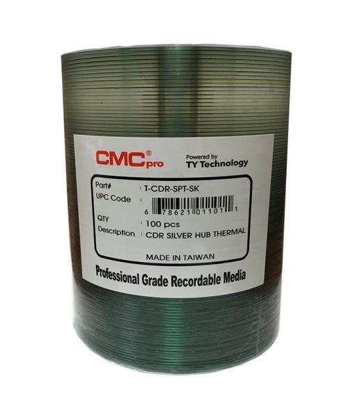 CMC Pro Taiyo Yuden 52X Silver Thermal Hub Printable Everest CDR Shrinkwrap- 100pc