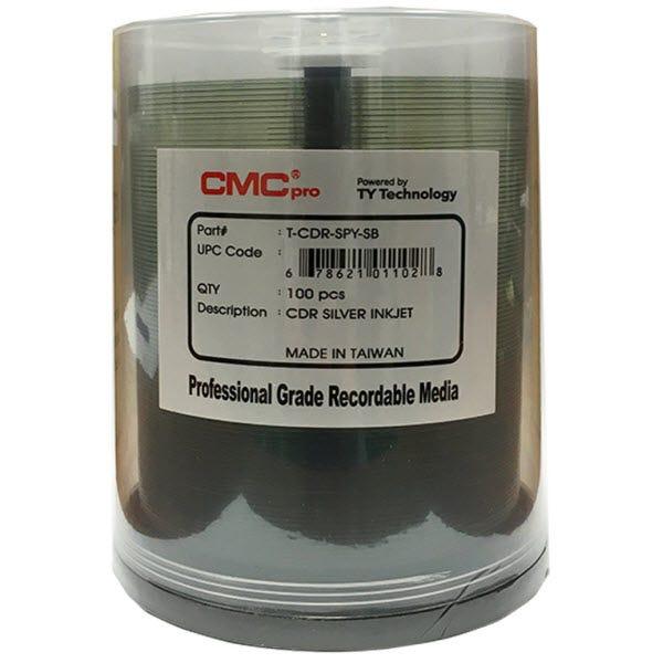 CMC Pro Taiyo Yuden 52X Silver Inkjet Printable CDR Cake Box- 100pc
