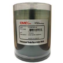 CMC Pro Taiyo Yuden 52X White Thermal Prism CDR Cake Box - 100pc