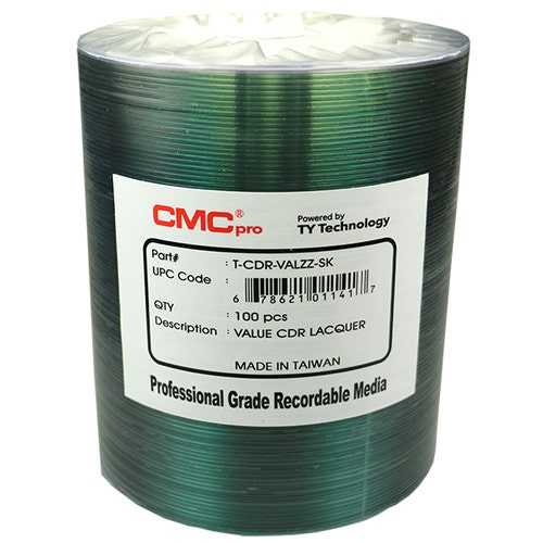 CMC Pro Taiyo Yuden 52X ValueLine Shiny Silver Thermal CDR - 100pc