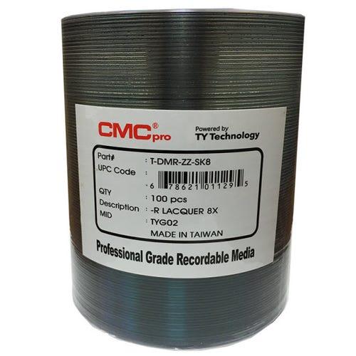 CMC Pro Taiyo Yuden 8X Silver Lacquer Thermal 4.7GB DVD-R Shrinkwrap - 100pc