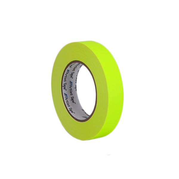 """ProTapes 1"""" Artist's Paper Tape - Fluorescent Yellow"""