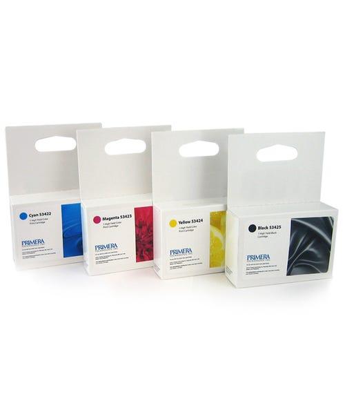 Primera CMYK Ink Cartridge Multipack - High Yield - 53428 Fo