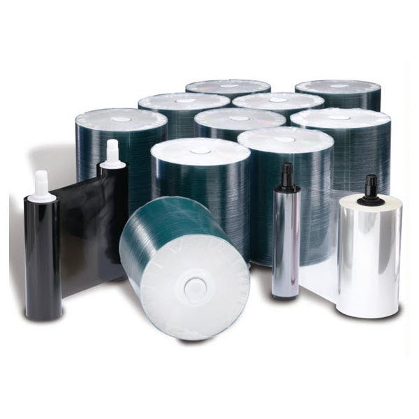 Rimage CD Media Kit Everest I/II/III - 1000 CDs, 1 Black Ribbon, 1 Retransfer Roll