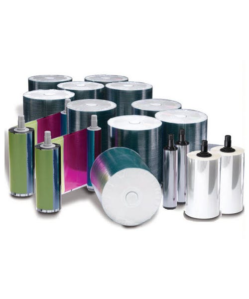 Rimage Everest 400/600 DVD-R Media Kit - 1000 DVDs (White Top), 2 CMY Ribbons, 2 Retransfer Rolls