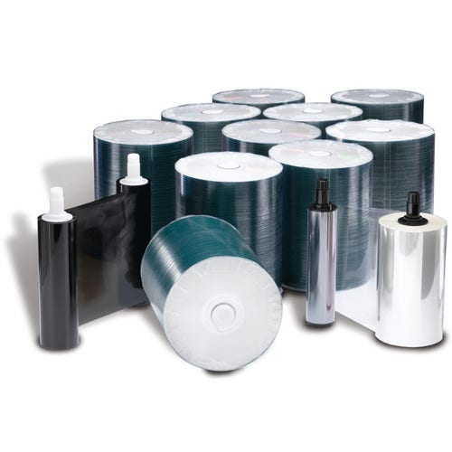 Rimage Everest 400/600 DVD-R Media Kit - 1000 DVDs (White Top), 1 Black Ribbon, 2 Retransfer Rolls