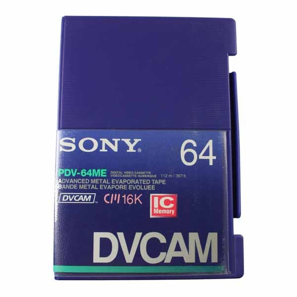 Sony DVCAM with Chip - PDV64ME - 64 Minute - Large Cassette
