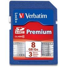 Verbatim 8GB SDHC Memory Card - Class 10