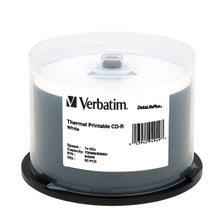 Verbatim 52X White Data Life Plus Thermal 80 Min CDR Cake Box - 50pc