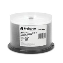 Verbatim 8X White Thermal Hub Printable DataLifePlus 4.7GB DVD-R Cake Box - 50pc