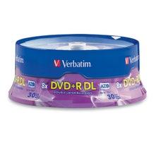 Verbatim 8X Branded 8.5GB DVD+R DL Cake Box - 30pc