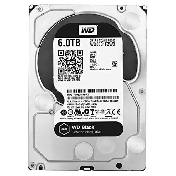 WD Black 6TB Internal HD SATA 7200RPM