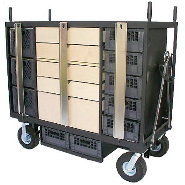 Backstage 8 Crate Set Box Platinum Series Studio / Stage Cart