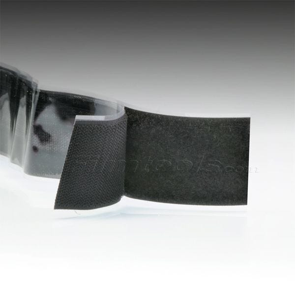 "2"" Black Hook and Loop Adhesive Backed Material - 3 Feet"