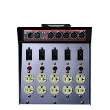 Dadco Black CAT DAD 100-DCAT Lunchbox Distro w/ 5 DMX Optosplitter + In/Thru