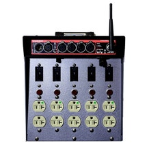 Dadco Black CAT DAD 100-WCAT Lunchbox Distro w/ 4-Port DMX & CRMX Transceiver