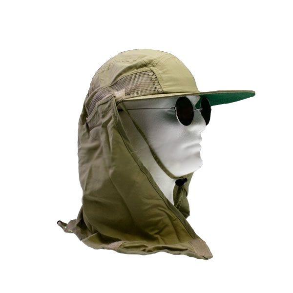 7d838d6d85dde Supplex Performance Khaki Hat w  Flap by Dorfman Pacific MC12-KAKI ...