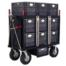 Backstage 6 Crate Horizontal Set Box Cart