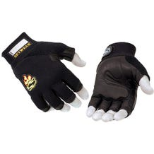 Setwear Black 3/4 Fingerless Leather Gloves - Medium